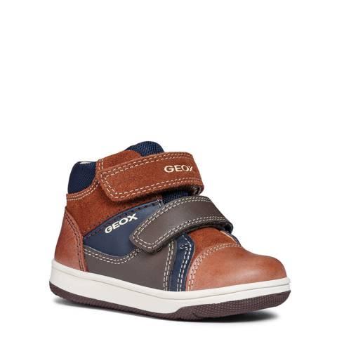 Geox Brown Velcro Trainer