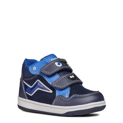 Geox Blue/Navy Velcro Trainer