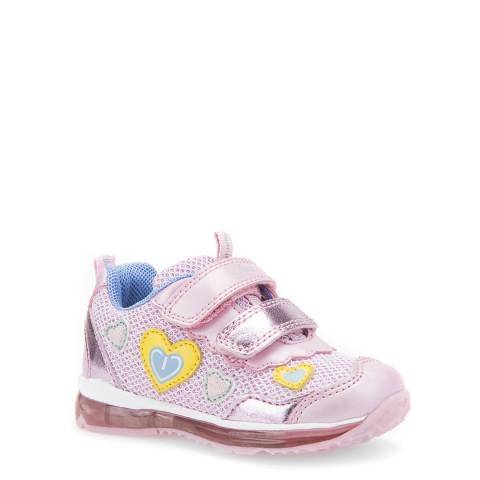 Geox Pink Heart Light Up Trainer