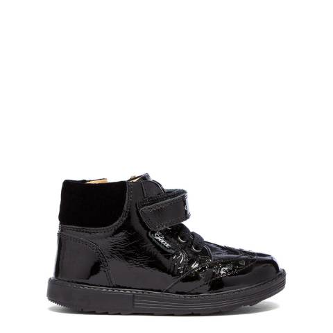 Geox Black Zip Leather Boot