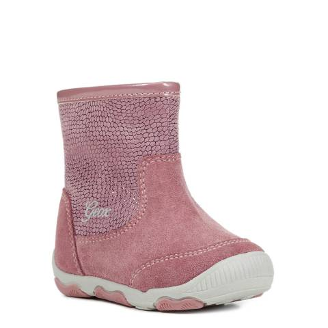 Geox Pink First Steps Boots