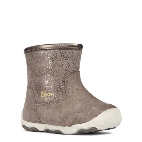 Geox Smoke Grey First Steps Boots