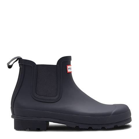 Hunter Navy Original Chelsea Boots