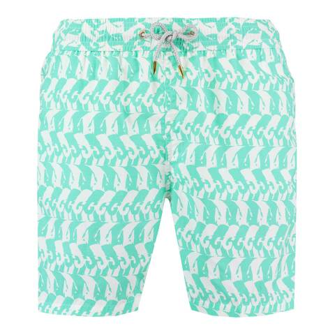 Love Brand & Co Green Heads Or Tails Swim Shorts
