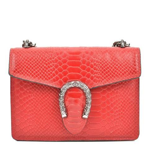 Renata Corsi Red Leather Shoulder Bag