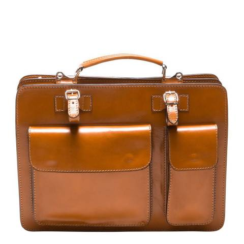 Renata Corsi Brown Leather Shoulder Bag