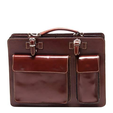 Renata Corsi Maroon Leather Shoulder Bag
