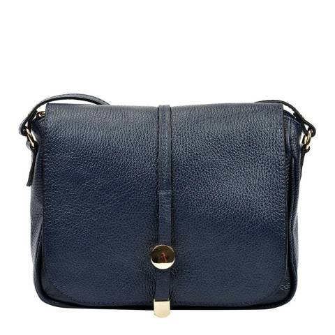 Renata Corsi Navy Leather Shoulder Bag