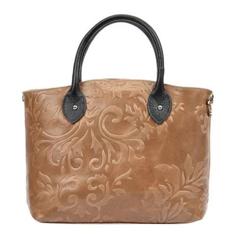 Renata Corsi Beige Leather Top Handle Bag