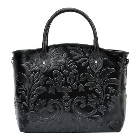 Renata Corsi Black Leather Top Handle Bag