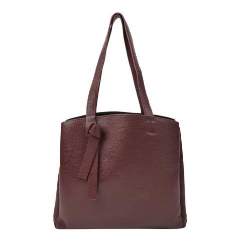Renata Corsi Wine Leather Shopper Bag