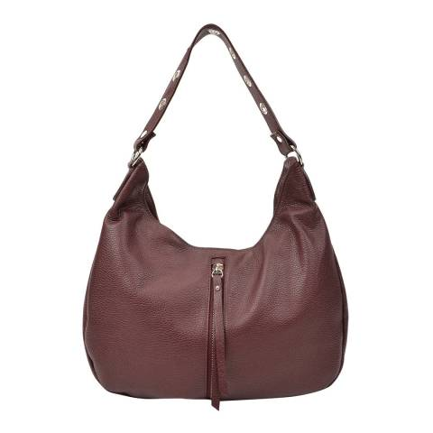 Renata Corsi Burgundy Leather Shoulder Bag