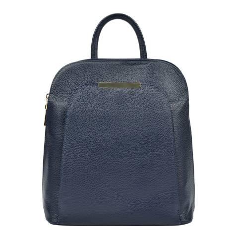 Renata Corsi Navy Leather Backpack