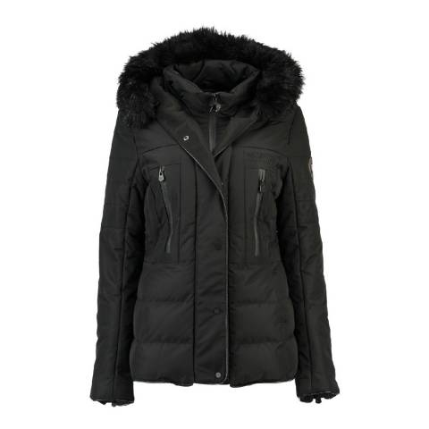 Geographical Norway Womens Black Dionysos Parka Jacket