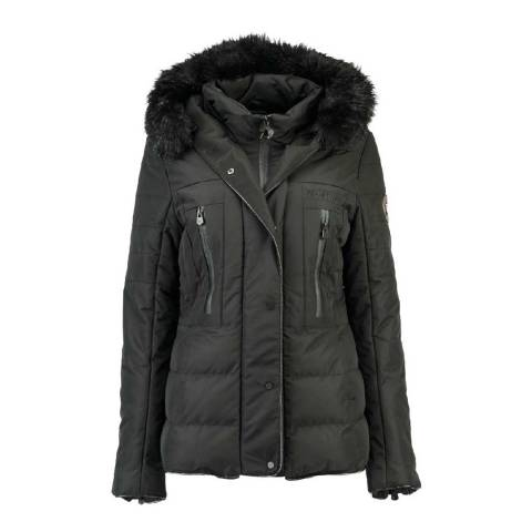 Geographical Norway Womens Dark Grey Dionysos Parka Jacket