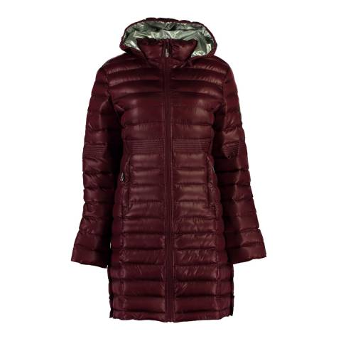 Geographical Norway Womens Burgundy Celia Parka Jacket