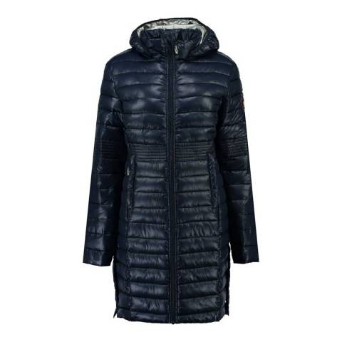 Geographical Norway Womens Navy Celia Parka Jacket