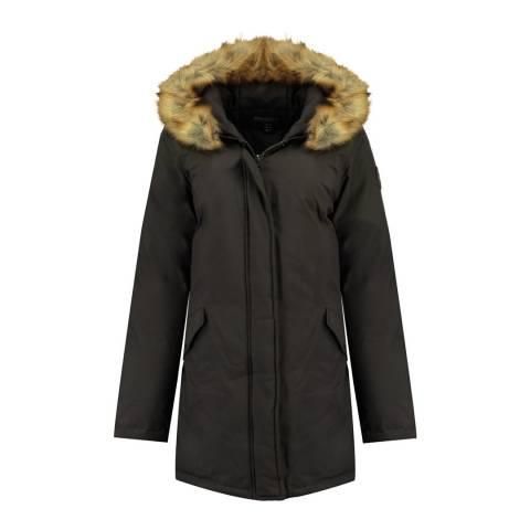 Geographical Norway Womens Dark Grey Dinasty Parka Jacket