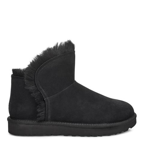 UGG Black Classic Mini Fluff High-Low Boot