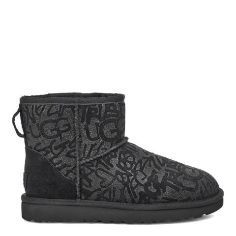 UGG Black Mini Sparkle Graffiti Boot
