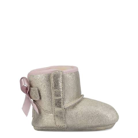 UGG Silver Suede Jesse Bow II Boots