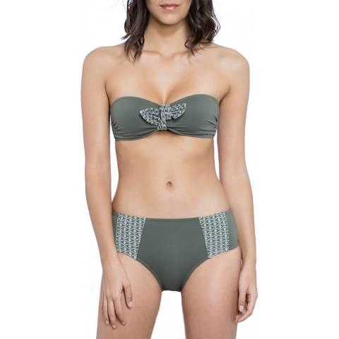 Tatiane De Freitas Khaki Retour A Buzios Bikini Set