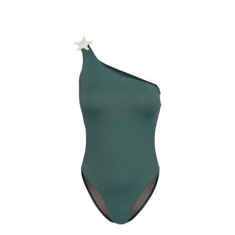Tatiane De Freitas Green L Etoile De Mer Swimsuit