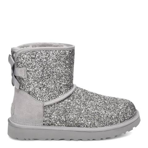 UGG Silver Classic Mini Bow Cosmos Boot