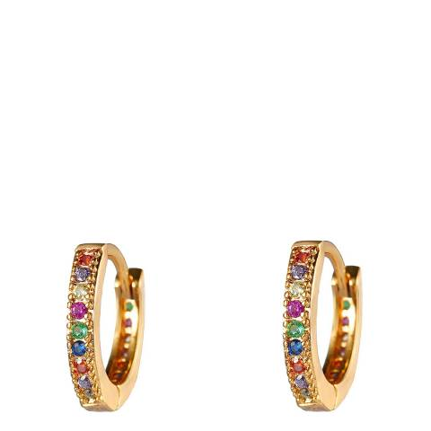 Liv Oliver 18K Multi Color Cz Huggie Earrings