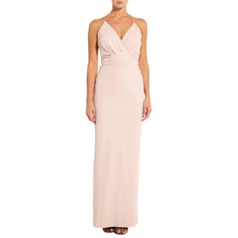 Adrianna Papell Blush Metallic Knit Dress