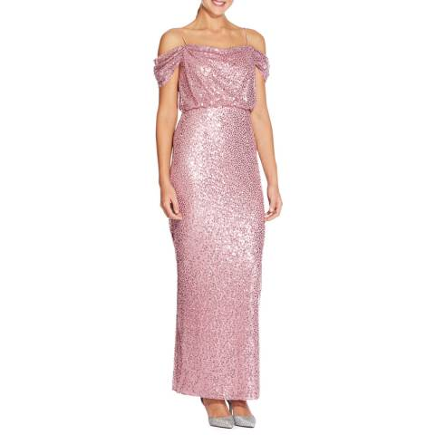 Adrianna Papell Rose Sequin Long Dress