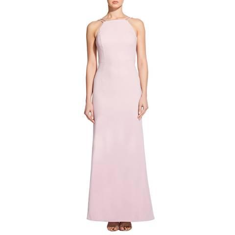 Aidan Mattox Icy Pink Crepe And Chiffon Gown