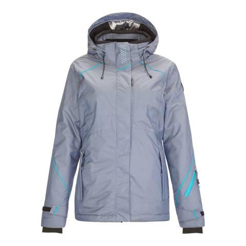 Killtec Women's Dark Navy/Aqua Sarlia Hooded Ski Jacket