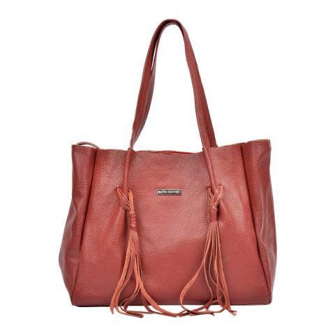Luisa Vannini Red Leather Shoulder Bag