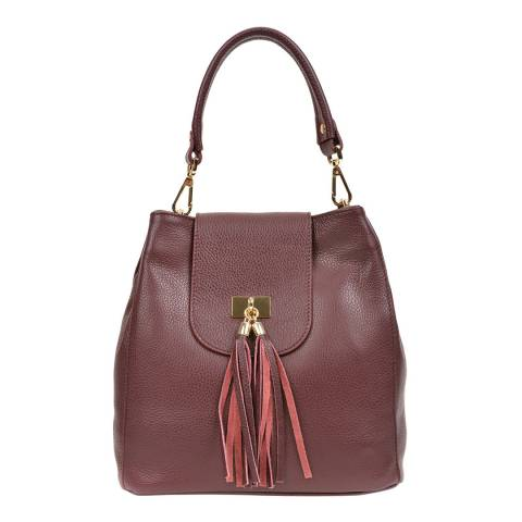 Luisa Vannini Red Leather Shoulder Bag