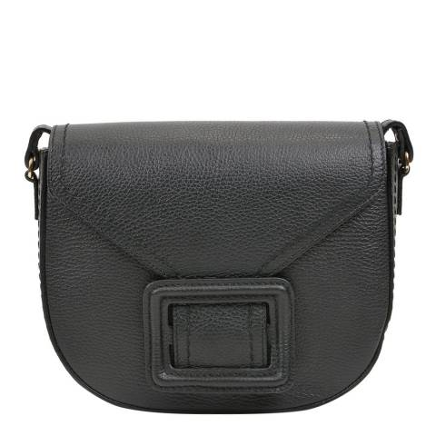 Luisa Vannini Black Leather Crossbody Bag