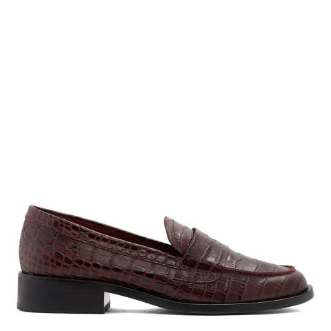 Aldo Red Embossed Croc Lovayven Loafers