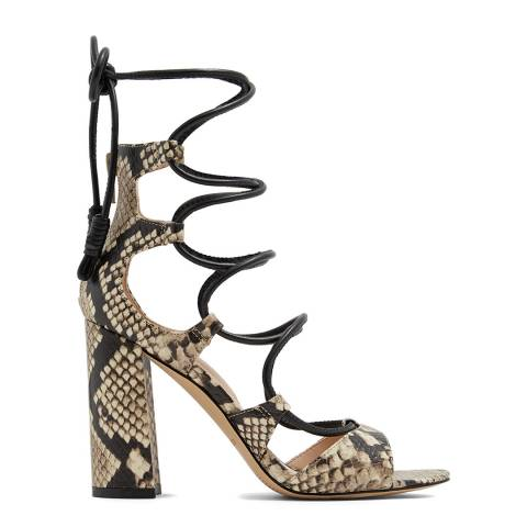 Aldo Snake Print Miadia Caged Block Heels