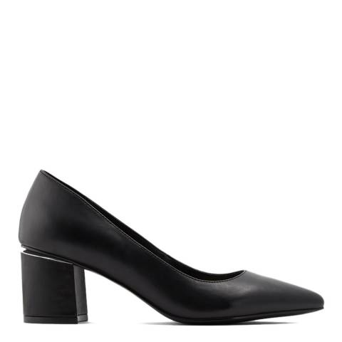 Aldo Black Leather Friravia Court Shoes
