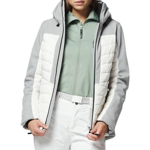 O'Neill White/Grey Baffle Igneous Ski Jacket