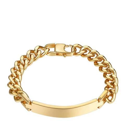 Stephen Oliver 18K Gold Plated Chian Link ID Bracelet