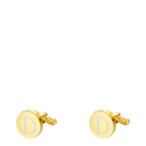 """Stephen Oliver 18K Gold Plated Initial """"D"""" Cufflinks"""