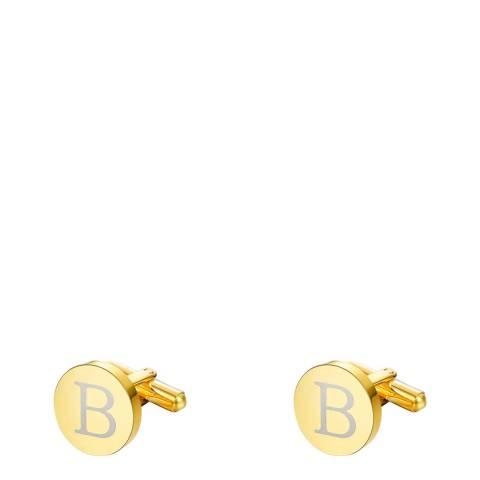 "Stephen Oliver 18K Gold Initial ""B"" Cufflinks"