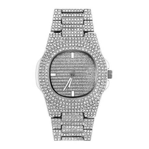 Stephen Oliver Silver  Cubic Zirconia Watch