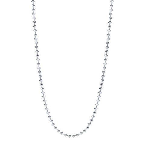 Stephen Oliver Silver Plated Ball Bead Necklace