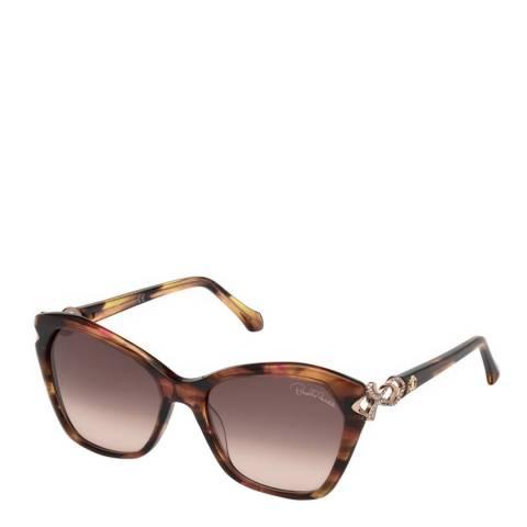 Roberto Cavalli Women's Brown Roberto Cavalli Sunglasses 55mm