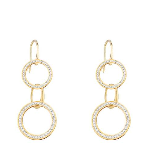 Liv Oliver 18K Gold Multi Ring Crystal Drop Earrings
