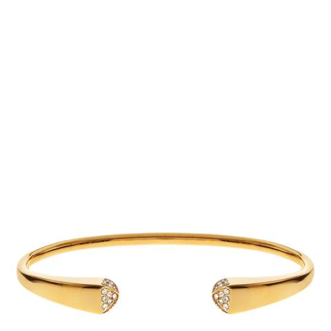 Liv Oliver 18K Gold Plated Pave CZ Cuff Bangle