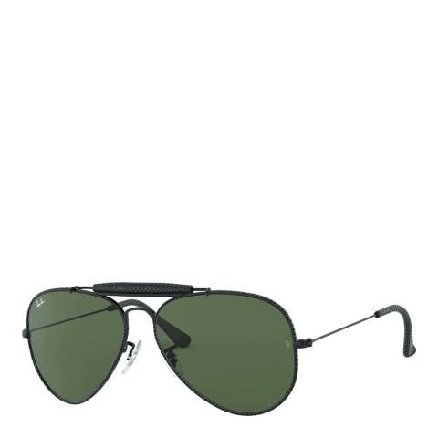 Ray-Ban Unisex Green Rayban Sunglasses 58mm