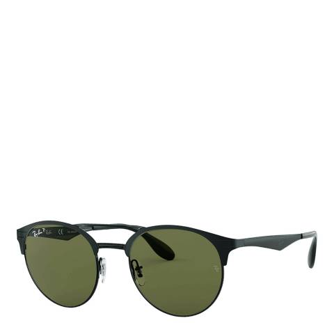 Ray-Ban Unisex Black/Green Sunglasses 51mm